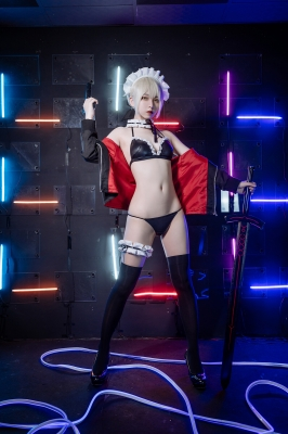 Maid Black Swimsuit Bikini Saber FGO005