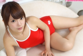 Aimi Sato School swimsuit gravure Red arena022