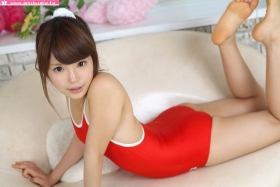Aimi Sato School swimsuit gravure Red arena030