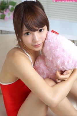Aimi Sato School swimsuit gravure Red arena040
