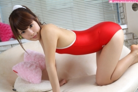 Aimi Sato School swimsuit gravure Red arena041