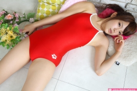 Aimi Sato School swimsuit gravure Red arena058