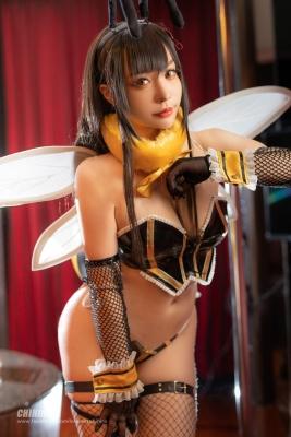 Swimsuit Bikini Gravure Queen Bee Tifa Lockhart Cosplay004