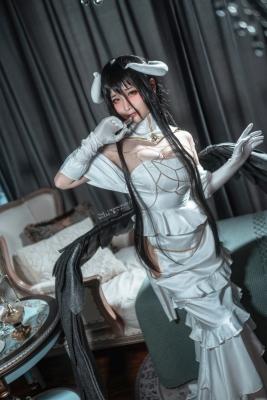 Cosplay Swimsuit Style Costume Albedo Overlord006