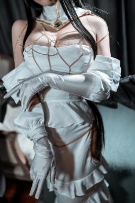 Cosplay Swimsuit Style Costume Albedo Overlord028
