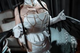 Cosplay Swimsuit Style Costume Albedo Overlord041