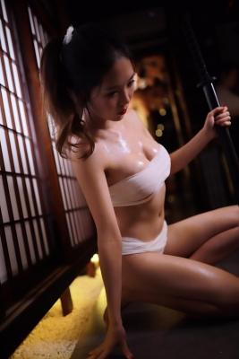 Underwear Image Cosplay Sarashi Wooden Sword Wood Blade008