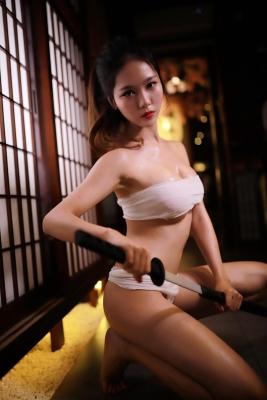 Underwear Image Cosplay Sarashi Wooden Sword Wood Blade013