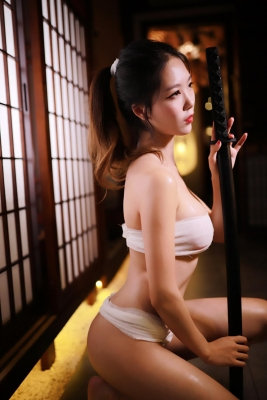 Underwear Image Cosplay Sarashi Wooden Sword Wood Blade035