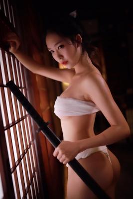 Underwear Image Cosplay Sarashi Wooden Sword Wood Blade038