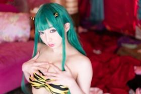 Moka Fukuda cosplay swimsuit bikini gravure Urusei Yatsura Ram 2021031