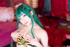 Moka Fukuda cosplay swimsuit bikini gravure Urusei Yatsura Ram 2021032