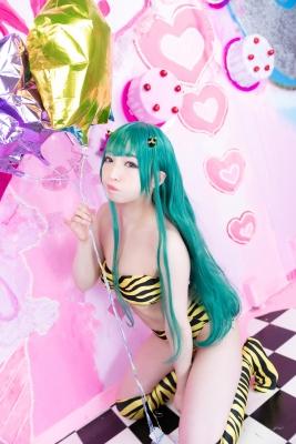 Moka Fukuda cosplay swimsuit bikini gravure Urusei Yatsura Ram 2021048