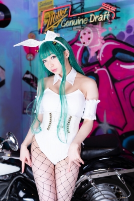 Moka Fukuda cosplay swimsuit bikini gravure Urusei Yatsura Ram 2021054