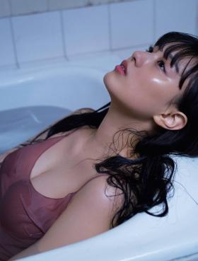No Ai Tsurushima Swimsuit Bikini Gravure Wet beautiful girl 2021004