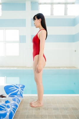 Red Swimming Pool Swimsuit Images Poolside Floatation041