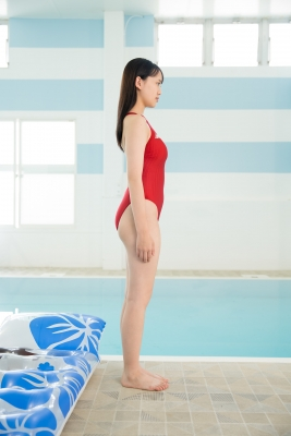 Red Swimming Pool Swimsuit Images Poolside Floatation045