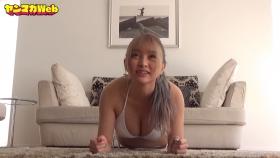 Usatani Paisen White Swimsuit Bikini Plank Endurance Challenge 2021032