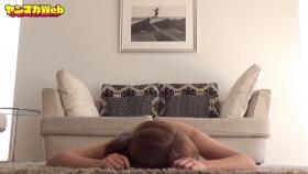 Usatani Paisen White Swimsuit Bikini Plank Endurance Challenge 2021050