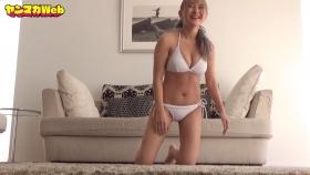 Usatani Paisen White Swimsuit Bikini Plank Endurance Challenge 2021056