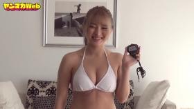 Usatani Paisen White Swimsuit Bikini Plank Endurance Challenge 2021072
