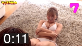 Usatani paisen white swimsuit bikini 30 second situps challenge 2021033