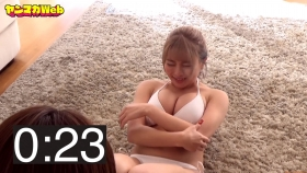 Usatani paisen white swimsuit bikini 30 second situps challenge 2021037