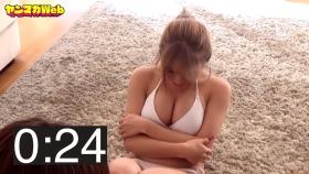 Usatani paisen white swimsuit bikini 30 second situps challenge 2021038