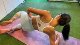 Hikaru Nishimoto Sportswear Hard Training at Personal Gym 2021043
