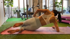 Hikaru Nishimoto Sportswear Hard Training at Personal Gym 2021048