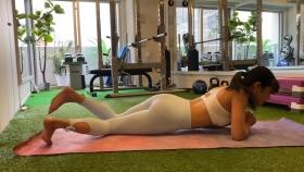 Hikaru Nishimoto Sportswear Hard Training at Personal Gym 2021049