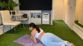 Hikaru Nishimoto Sportswear Hard Training at Personal Gym 2021072