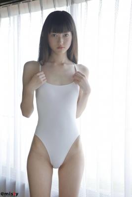 Hikaru Takahashi White HighLegged Leotard Swimsuit Swimming Race Swimsuit Leotard007
