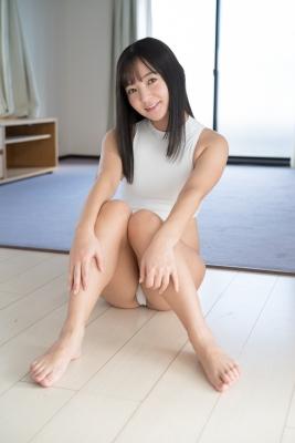 Ayana Nishinaga High Leg White Leotard Swimsuit Swimming Race Swimsuit School Swimsuit012