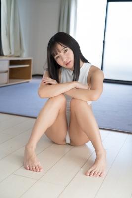 Ayana Nishinaga High Leg White Leotard Swimsuit Swimming Race Swimsuit School Swimsuit015