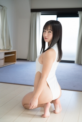 Ayana Nishinaga High Leg White Leotard Swimsuit Swimming Race Swimsuit School Swimsuit018