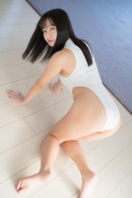 Ayana Nishinaga High Leg White Leotard Swimsuit Swimming Race Swimsuit School Swimsuit019