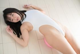 Ayana Nishinaga High Leg White Leotard Swimsuit Swimming Race Swimsuit School Swimsuit027