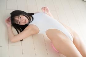 Ayana Nishinaga High Leg White Leotard Swimsuit Swimming Race Swimsuit School Swimsuit028