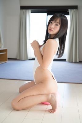 Ayana Nishinaga High Leg White Leotard Swimsuit Swimming Race Swimsuit School Swimsuit040