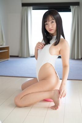 Ayana Nishinaga High Leg White Leotard Swimsuit Swimming Race Swimsuit School Swimsuit041