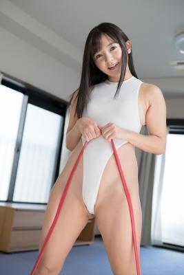 Ayana Nishinaga High Leg White Leotard Swimsuit Swimming Race Swimsuit School Swimsuit053