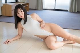 Ayana Nishinaga High Leg White Leotard Swimsuit Swimming Race Swimsuit School Swimsuit059