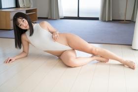 Ayana Nishinaga High Leg White Leotard Swimsuit Swimming Race Swimsuit School Swimsuit060