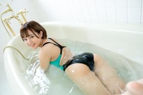 Anju Kouzuki Swimming Race Swimsuit Image arena arena Green Black Vol2014