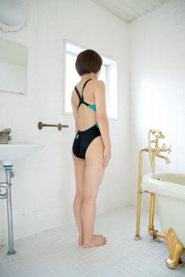 Anju Kouzuki Swimming Race Swimsuit Image arena arena Green Black Vol2033