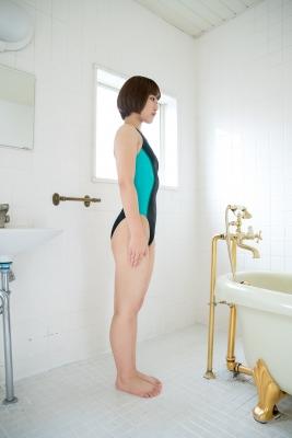 Anju Kouzuki Swimming Race Swimsuit Image arena arena Green Black Vol2034
