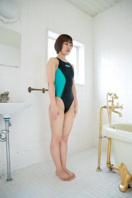 Anju Kouzuki Swimming Race Swimsuit Image arena arena Green Black Vol2035