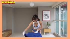 Yuki Mitera in blue swimsuit bikini and table magic 2021039