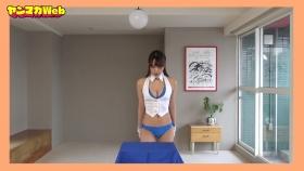 Yuki Mitera in blue swimsuit bikini and table magic 2021043